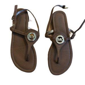 Michael Kors Thong Center Logo Sandals 8